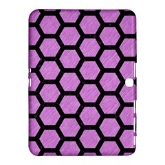 Hexagon2 Black Marble & Purple Colored Pencil Samsung Galaxy Tab 4 (10 1 ) Hardshell Case  by trendistuff