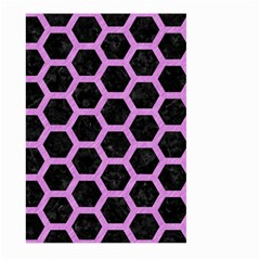 Hexagon2 Black Marble & Purple Colored Pencil (r) Large Garden Flag (two Sides) by trendistuff