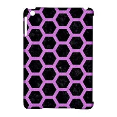 Hexagon2 Black Marble & Purple Colored Pencil (r) Apple Ipad Mini Hardshell Case (compatible With Smart Cover) by trendistuff