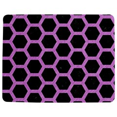 Hexagon2 Black Marble & Purple Colored Pencil (r) Jigsaw Puzzle Photo Stand (rectangular) by trendistuff