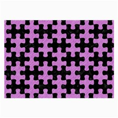 Puzzle1 Black Marble & Purple Colored Pencil Large Glasses Cloth by trendistuff