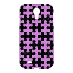 Puzzle1 Black Marble & Purple Colored Pencil Samsung Galaxy S4 I9500/i9505 Hardshell Case by trendistuff
