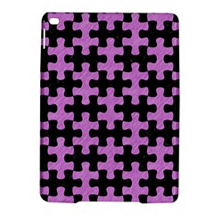 Puzzle1 Black Marble & Purple Colored Pencil Ipad Air 2 Hardshell Cases by trendistuff
