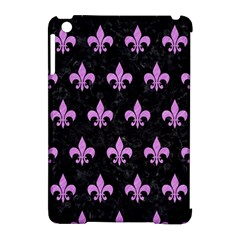 Royal1 Black Marble & Purple Colored Pencil Apple Ipad Mini Hardshell Case (compatible With Smart Cover)