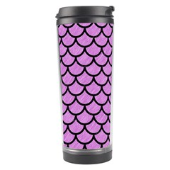 Scales1 Black Marble & Purple Colored Pencil Travel Tumbler by trendistuff
