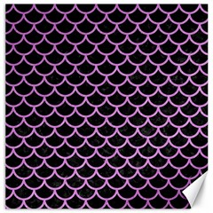 Scales1 Black Marble & Purple Colored Pencil (r) Canvas 12  X 12   by trendistuff