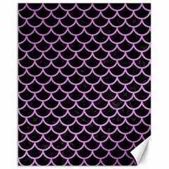 Scales1 Black Marble & Purple Colored Pencil (r) Canvas 16  X 20   by trendistuff