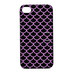 Scales1 Black Marble & Purple Colored Pencil (r) Apple Iphone 4/4s Hardshell Case With Stand by trendistuff