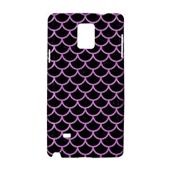 Scales1 Black Marble & Purple Colored Pencil (r) Samsung Galaxy Note 4 Hardshell Case by trendistuff