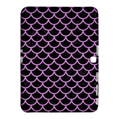 Scales1 Black Marble & Purple Colored Pencil (r) Samsung Galaxy Tab 4 (10 1 ) Hardshell Case  by trendistuff