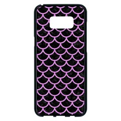 Scales1 Black Marble & Purple Colored Pencil (r) Samsung Galaxy S8 Plus Black Seamless Case by trendistuff