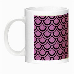Scales2 Black Marble & Purple Colored Pencil Night Luminous Mugs by trendistuff