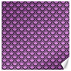 Scales2 Black Marble & Purple Colored Pencil Canvas 16  X 16   by trendistuff