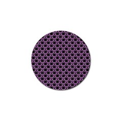 Scales2 Black Marble & Purple Colored Pencil (r) Golf Ball Marker (10 Pack)