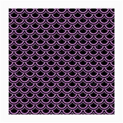 Scales2 Black Marble & Purple Colored Pencil (r) Medium Glasses Cloth (2 Side) by trendistuff
