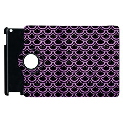 Scales2 Black Marble & Purple Colored Pencil (r) Apple Ipad 3/4 Flip 360 Case by trendistuff