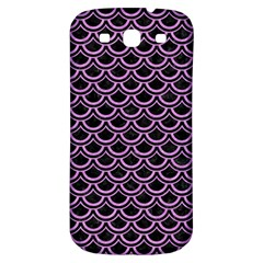 Scales2 Black Marble & Purple Colored Pencil (r) Samsung Galaxy S3 S Iii Classic Hardshell Back Case by trendistuff