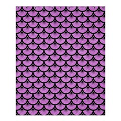 Scales3 Black Marble & Purple Colored Pencil Shower Curtain 60  X 72  (medium)  by trendistuff