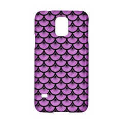 Scales3 Black Marble & Purple Colored Pencil Samsung Galaxy S5 Hardshell Case  by trendistuff