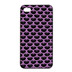 Scales3 Black Marble & Purple Colored Pencil (r) Apple Iphone 4/4s Seamless Case (black) by trendistuff
