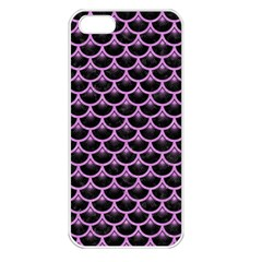 Scales3 Black Marble & Purple Colored Pencil (r) Apple Iphone 5 Seamless Case (white) by trendistuff