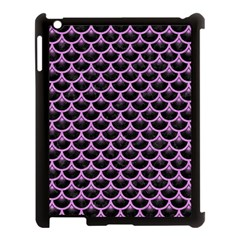 Scales3 Black Marble & Purple Colored Pencil (r) Apple Ipad 3/4 Case (black) by trendistuff