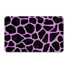 Skin1 Black Marble & Purple Colored Pencil Magnet (rectangular) by trendistuff