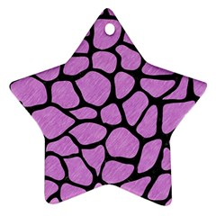 Skin1 Black Marble & Purple Colored Pencil (r) Ornament (star) by trendistuff