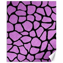 Skin1 Black Marble & Purple Colored Pencil (r) Canvas 11  X 14   by trendistuff