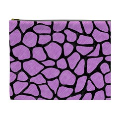 Skin1 Black Marble & Purple Colored Pencil (r) Cosmetic Bag (xl) by trendistuff