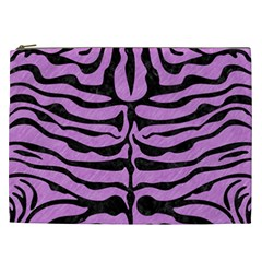 Skin2 Black Marble & Purple Colored Pencil Cosmetic Bag (xxl)  by trendistuff