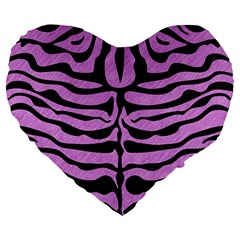 Skin2 Black Marble & Purple Colored Pencil Large 19  Premium Heart Shape Cushions by trendistuff