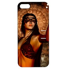 Wonderful Fantasy Women With Mask Apple Iphone 5 Hardshell Case With Stand by FantasyWorld7