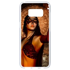 Wonderful Fantasy Women With Mask Samsung Galaxy S8 White Seamless Case by FantasyWorld7