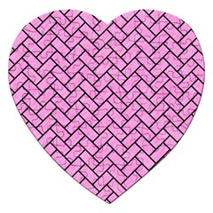 Brick2 Black Marble & Pink Colored Pencil Jigsaw Puzzle (heart) by trendistuff