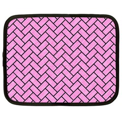 Brick2 Black Marble & Pink Colored Pencil Netbook Case (xxl)  by trendistuff