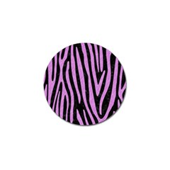 Skin4 Black Marble & Purple Colored Pencil Golf Ball Marker (4 Pack) by trendistuff