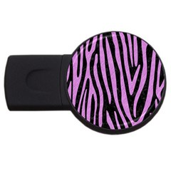 Skin4 Black Marble & Purple Colored Pencil Usb Flash Drive Round (4 Gb) by trendistuff