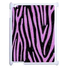 Skin4 Black Marble & Purple Colored Pencil Apple Ipad 2 Case (white) by trendistuff