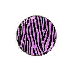 Skin4 Black Marble & Purple Colored Pencil (r) Hat Clip Ball Marker by trendistuff