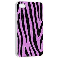 Skin4 Black Marble & Purple Colored Pencil (r) Apple Iphone 4/4s Seamless Case (white) by trendistuff