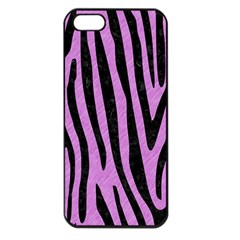 Skin4 Black Marble & Purple Colored Pencil (r) Apple Iphone 5 Seamless Case (black) by trendistuff
