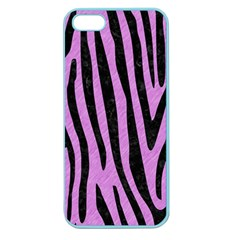 Skin4 Black Marble & Purple Colored Pencil (r) Apple Seamless Iphone 5 Case (color) by trendistuff