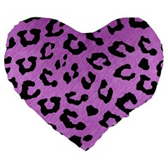 Skin5 Black Marble & Purple Colored Pencil (r) Large 19  Premium Flano Heart Shape Cushions by trendistuff