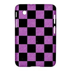 Square1 Black Marble & Purple Colored Pencil Samsung Galaxy Tab 2 (7 ) P3100 Hardshell Case  by trendistuff