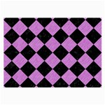 SQUARE2 BLACK MARBLE & PURPLE COLORED PENCIL Large Glasses Cloth Front