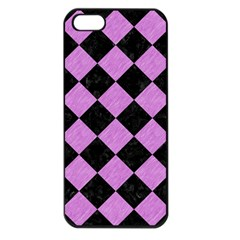Square2 Black Marble & Purple Colored Pencil Apple Iphone 5 Seamless Case (black) by trendistuff