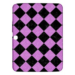 Square2 Black Marble & Purple Colored Pencil Samsung Galaxy Tab 3 (10 1 ) P5200 Hardshell Case  by trendistuff