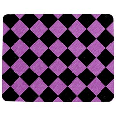 Square2 Black Marble & Purple Colored Pencil Jigsaw Puzzle Photo Stand (rectangular) by trendistuff