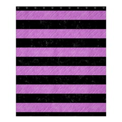 Stripes2 Black Marble & Purple Colored Pencil Shower Curtain 60  X 72  (medium)  by trendistuff